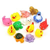 Generic Toybb Rubber Squeaky Animal Floating Bath Toys For Baby (8-Pieces)