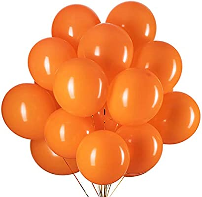Tim/&Lin 12 inch Orange and Black Balloons Quality Black and Orange Balloons Premium Latex Balloons Helium Balloons Party Decoration Supplies Balloons Pack of 60 3.2g//pcs