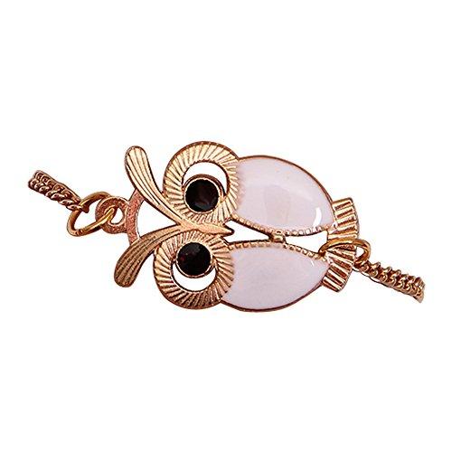 NIHAI Gifts Bracelet for Women, Cuff Bangle Alloy Hollow Owl Bracelet Jewelry Accessories Friendship Charm Bracelets Gift (White) ()