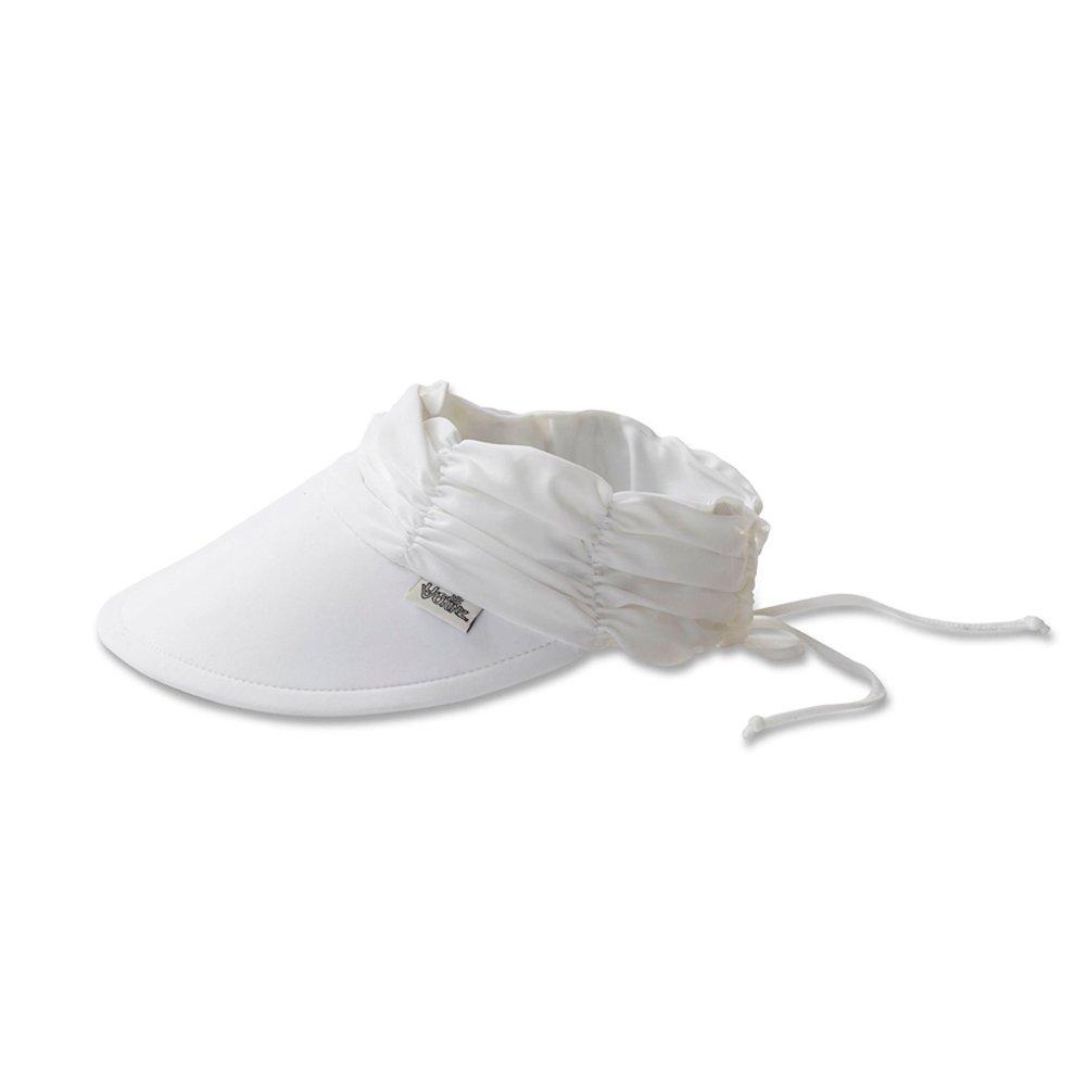 UV SKINZ UPF50+ Womens Swim Visor-White