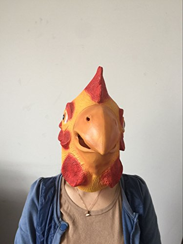 Rubber Chicken Costumes (Laylala Chicken Head Mask Animal Mask)