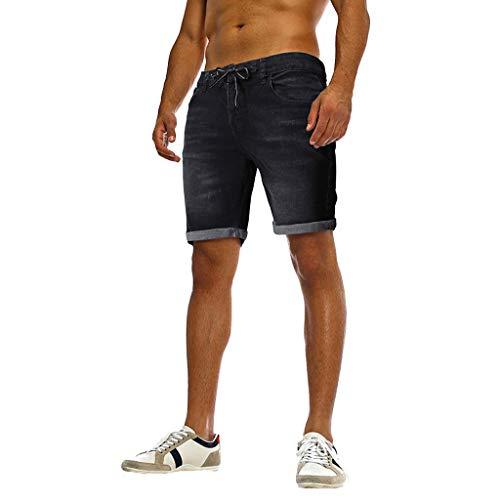 - SPE969 Short Jeans Pants Fashion Men's Casual Jeans Destroyed Denim Hole Ripped Pants