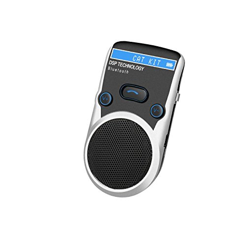 DSD TECH Black Solar Powered LCD Display Bluetooth Car Kit Handsfree Call Device Support PhoneBook and TTS Function