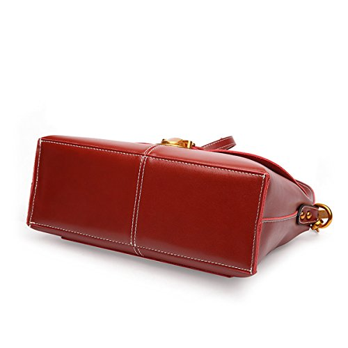 Rojo de Valin asas Medium Charol Bolso mujer para de qttwSB8