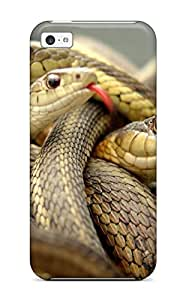 High-end Case Cover Protector For Iphone 5c(bevy Of Snakes)