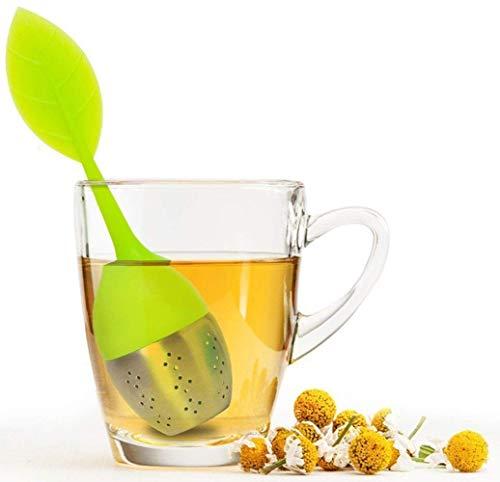 Bekith Tea Infuser - Set of 7 Silicone Handle Stainless Steel Strainer Drip Tray Included - Loose Tea Steeper - Best Tea Infuser for Loose Leaf or Herbal Tea