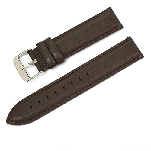 (CASSIS Type DW Genuine Calf Leather Waterproof Lining Watch Strap for 40mm Daniel Wellington Watches 20mm Brown with Tool U0029169032020M )