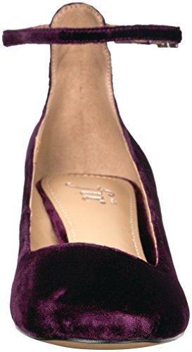 geniue stockist The Fix Women's Morgan Block-Heel Ankle Strap Dress Pump Dark Amethyst Velvet cheap 2014 newest buy cheap outlet clearance affordable 5jUvhR