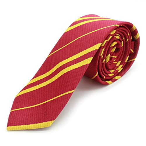 shake beauty Striped Tie for Cosplay Party Costume Necktie for Halloween and Christmas Party Daily Use (Red)