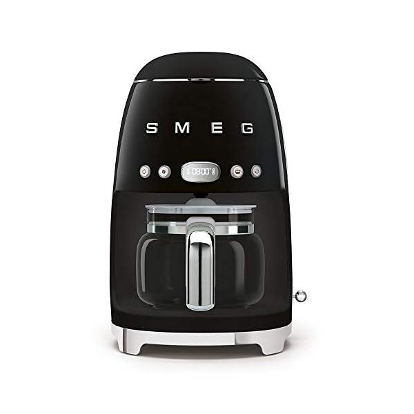 Smeg 50's Retro Style Aesthetic Drip Filter Coffee Machine, 10 cups, Black 1