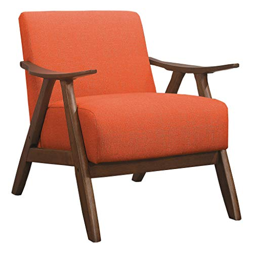 Lexicon Elle Fabric Upholstered Accent Chair, Orange