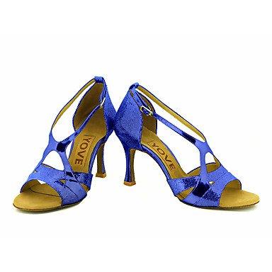 Negro Tacón sliver Azul Plata baile Personalizables Salsa Oro Rosa Rojo Personalizado de Latino Zapatos ZaPxOEn