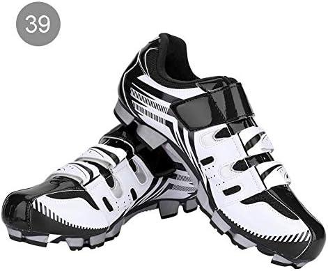 Alomejor 1 par de Zapatos de Ciclismo para Hombre, Zapatos de Ciclismo Antideslizantes para Adultos para Bicicleta de montaña MTB(39-Blanco): Amazon.es: Deportes y aire libre