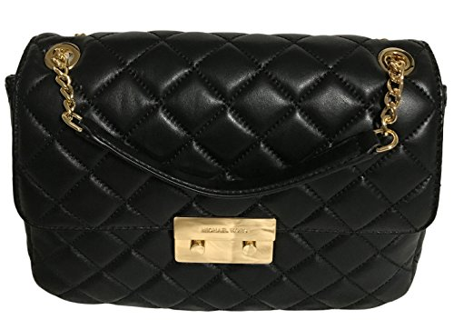 6d97355df84a1e Michael Kors Sloan Extra Large Chain Shoulder Bag Quilted Leather  30T6GSLL4L Black