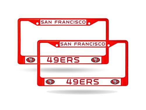 49ers license plate frame metal - 3