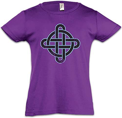 Celtic Knot Logo Sign IX Kids Girls T-Shirt Kelten Knoten keltisch Kreuz Cross Runen