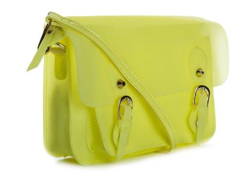 Big Handbag Shop - Bolso de asas para mujer One Amarillo