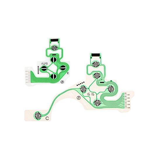 Flex Circuit Cable - kesoto Conductive Film Keypad Controller Button Ribbon Circuit Board Flex Cable Repair Parts for PS4 PlayStation 4 DualShock