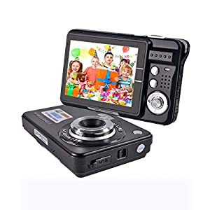 Youmeet Digital Camera,18MP Compact Camera,2.7 inch Pocket Camera,Rechargeable Small Digital Camera for Kids,Students…