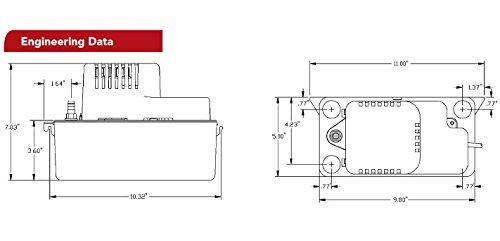 리틀 자이언트 554435 VCMA-20ULST-115 응축수 제거 펌프, 115V/..