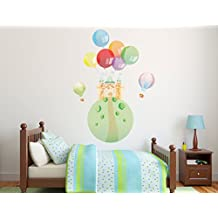 """Castle & Balloons Theme - Mural Room Wall Decals - Baby Boy Girl Unisex Decoration - Mural Wall Decal Sticker For Home Interior Decoration Car Laptop (Wide 27"""" x 14"""" Height) (Wide 24"""" x 33"""" Height)"""
