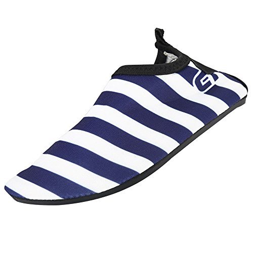 Eden 6 Light - ROBASIOM Water Shoes Light Sports Swim Shoes Barefoot Quick-Dry Aqua Socks for Beach Swim Pool (1.5-2.5M US Little Kid, Navy Blue)
