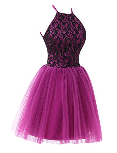 modec short halter homecoming dresses lace dress open back