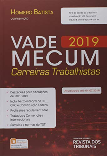 Vade Mecum 2019 Carrreiras Trabalhistas