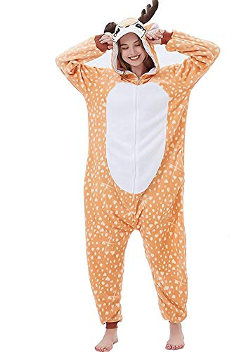 Attrezzatura Abyed® Costume Halloween Cerbiatto Cosplay Anime Pigiama Kigurumi wqPYT