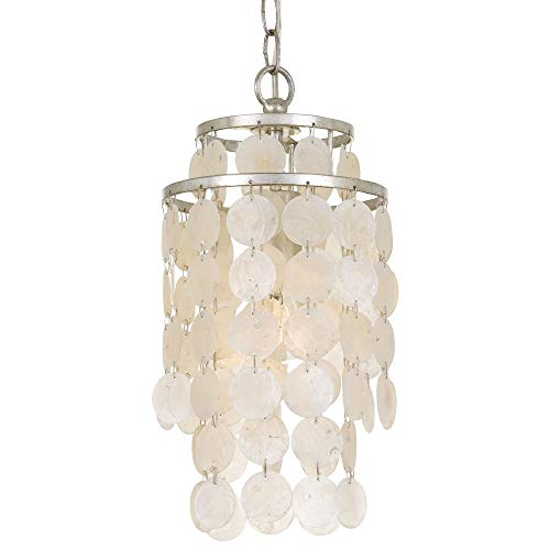 Crystorama Mini Chandelier Brielle 1 Light, Antique Silver - Light Chandelier Crystorama Lighting