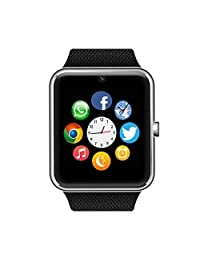 Bluetooth Smart Watch Phone with SIM Card Slot/Camera/Pedometer/Touch Screen Smartwatch for Android HUAWEI Samsung HTC Sony LG Google Pixel & iOS iPhone (Partial Features)