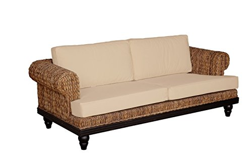 Crafted Home Nehalem Casual Love Seat, 80″ Length by 33″ Width by 26″ Height, Brown Textured