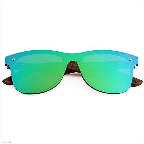 Hombres TAC Sol de Vacaciones Piece de polarizadas Libre One Verde Sol Ojos Playa Pesca Aszhdfihas de Gafas Color Pierna Madera Lente Style Azul Marco de Gafas Gato Personalidad al PC Aire qwESnT0