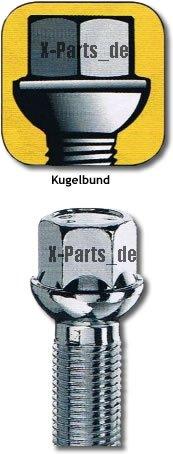 20 Bolzen Radschraube Schraube Kugelbund Kugelkopf M14x1,5-30mm Gewindel/änge