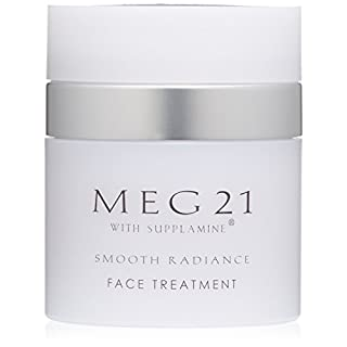 MEG 21 Smooth Radiance Face Treatment Anti-Aging Moisturizer Reduces Fine Lines, Wrinkles in 28 Days. Bright, Smooth Glow for Women, Men of All Ages and Skin Types. Peel, Acid-free. Clinically Proven
