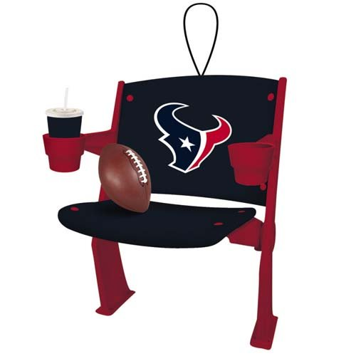 Houston Texans Official NFL 4 inch x 3 inch Stadium Seat Ornament by Team Sports America