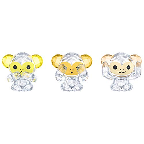 Swarovski Three Wise Monkeys Figurines. 3 pc. Set by Swarovski (Image #1)