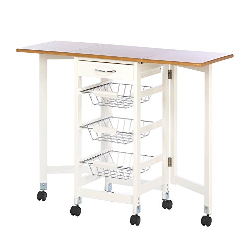 Home Locomotion Kitchen Trolley Extended Table by Koehlerhomedecor