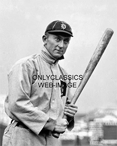 - OnlyClassics Vintage TY Cobb OUTFIELDER Detroit Tigers Baseball BAT 8X10 Photo Georgia Peach