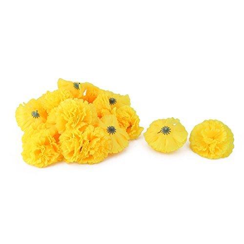 eDealMax Fiesta de la boda Tela 人工クレイベルカベサ de Flor 20ピース DIY de la decoración en tonos amarillos B07GL1K29H