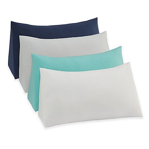 Therapedic Reading Wedge Pillow Knit Cover in Navy ()