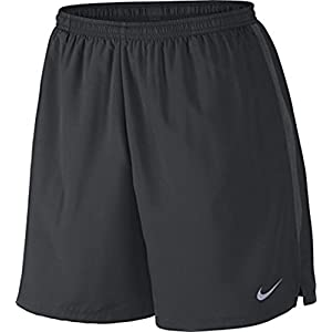 Nike Mens 7 Challenger Running Shorts (Large, Anthracite (061) / Black/Reflective Silver)