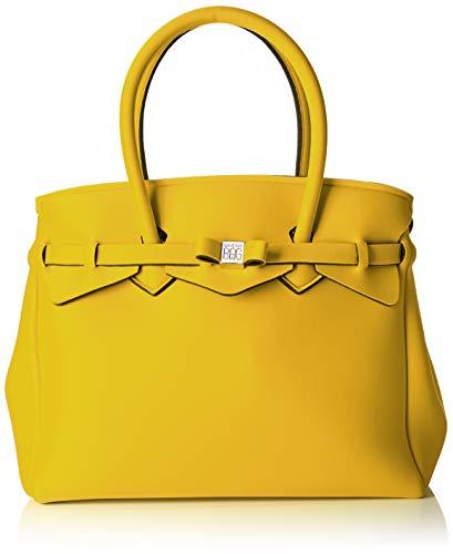 Save My Bag Miss Plus, Sac à bandoulière pour femme, 34x29x18 Cm (l X H H) Jaune (rabat)