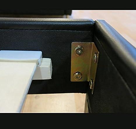 muebles bonitos Cama de Matrimonio Luna para Colchón de 180x200cm Blanco: Amazon.es: Hogar