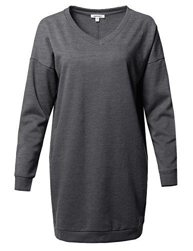 Cotton V-Neck Sweatshirt - 6