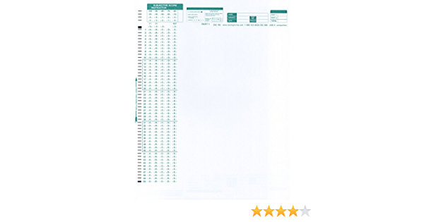 TEST-888E 888 E Compatible Testing Forms 100 Sheet Pack