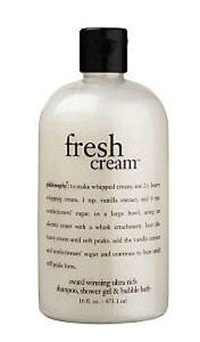 Philosophy Fresh Cream Shampoo Shower Gel Bubble Bath 16oz