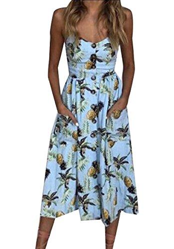 Patterned Buttoned Women 6 Beachwear Plus Sling Dress Size Sun Coolred Sexy x0HqSwAnqa
