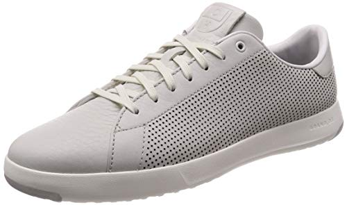 Cole Haan Mens Grandpro Tennis Sneaker 7.5 Chalk Tumbled Leather