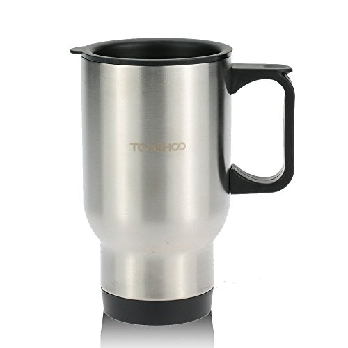 TOMSHOO 400ML Portable Stainless Steel Water Mug Double Wall Heat Insulated Cup Camping Hiking Office Use